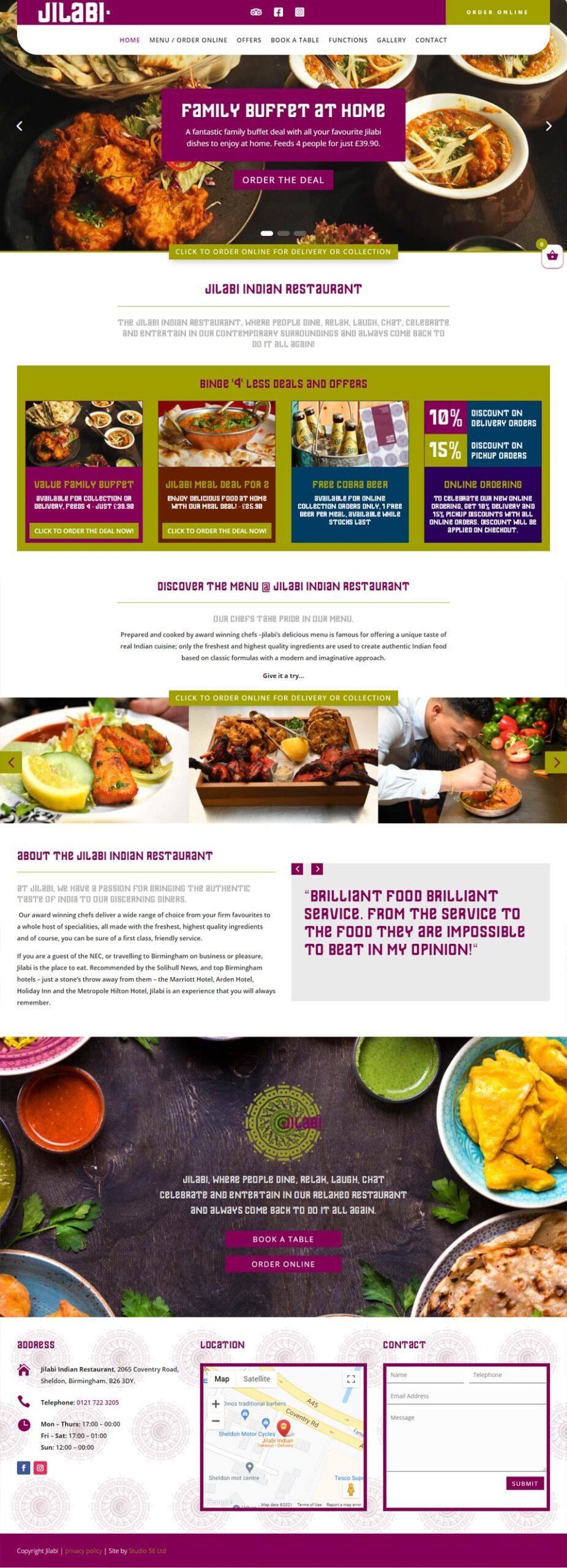 Jilabi online food ordering new website designed and developed by Studio 56