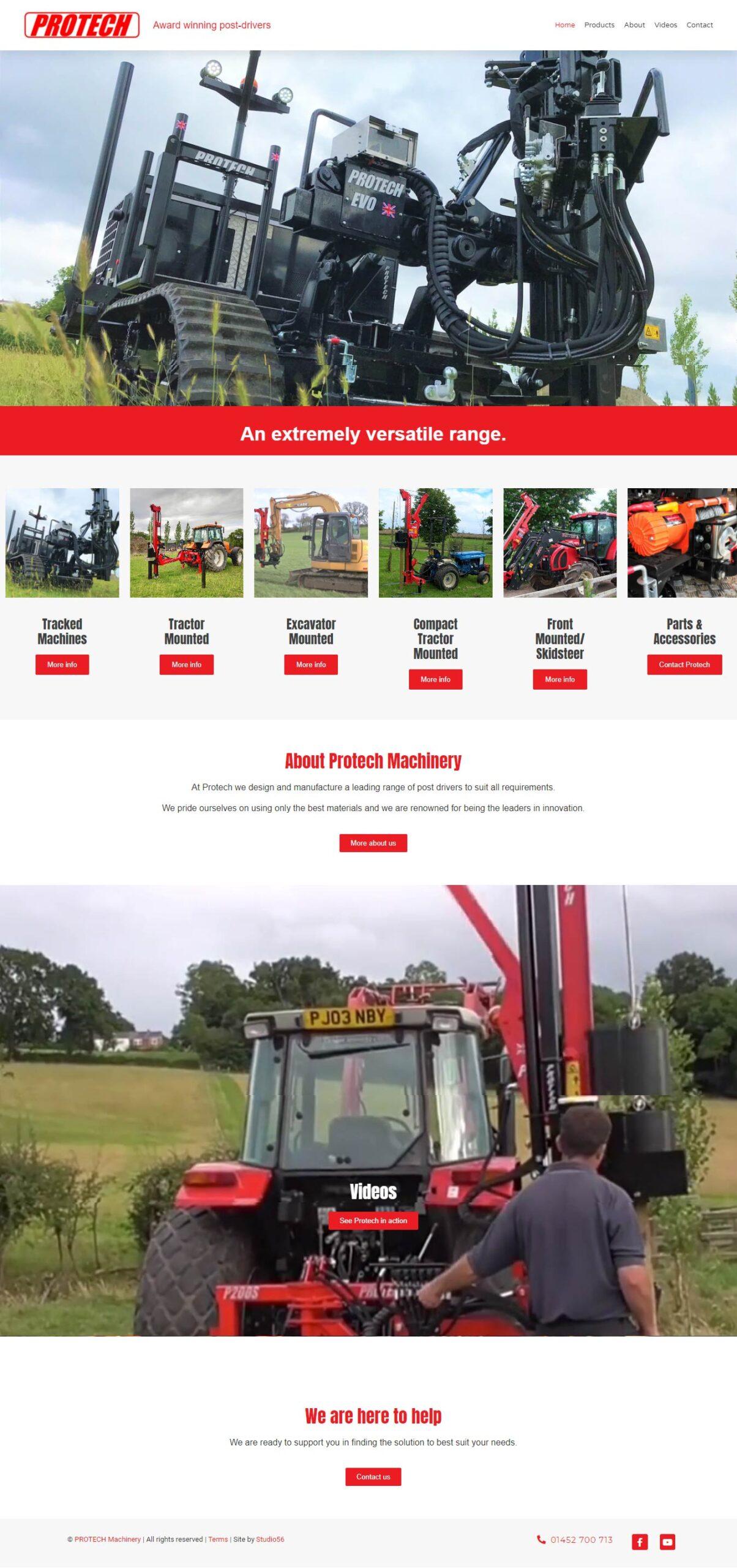 Protech Machinery New Website Design